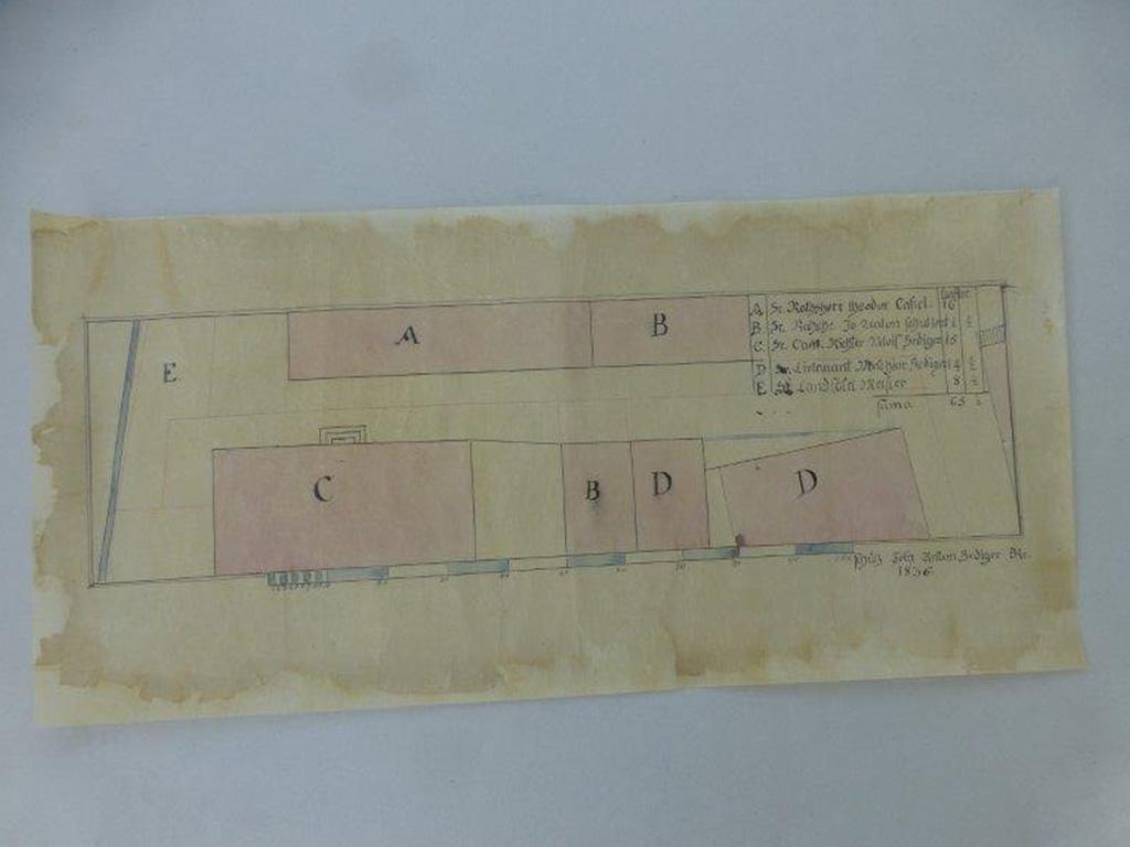 9) Restaurierung von Plan Transparentpapier (Nachher)